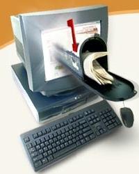 Computer monitor and mailbox
