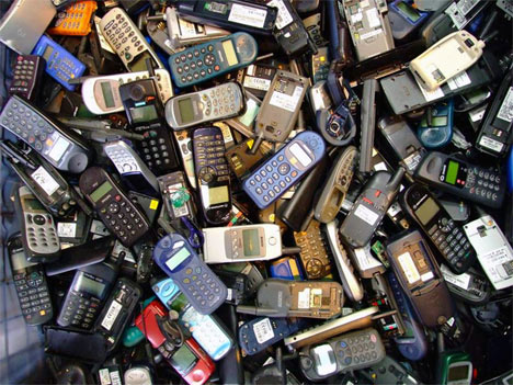 pile of mobile/wireless phones